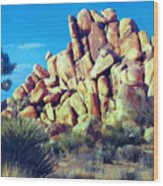 Sunset At Joshua Tree Wood Print