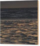 Sunset At Kenai Beach Wood Print