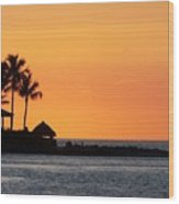 Sunset At Key West Wood Print