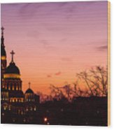 Sunset At Kharkov  Ukraine Wood Print