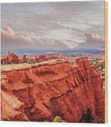 Sunset At Kodachrome Basin State Park Panorama Wood Print