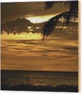 Sunset At Ko'olina Wood Print