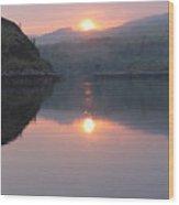 Sunset At Kylesku Wood Print