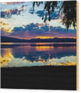 Agency Lake Sunset, Oregon Wood Print