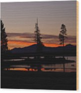 Sunset At Lake Almanor 02 Wood Print