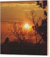 Sunset At Lake Michigan Wood Print