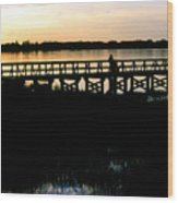 Sunset At Lake Mineola In Clermont Florida Wood Print