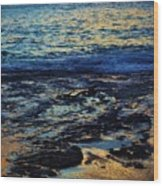 Sunset At Low Tide Wood Print
