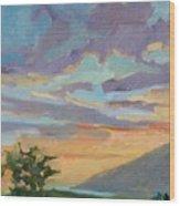Sunset At Makawao Wood Print