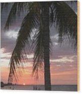 Sunset At Montego Bay Wood Print