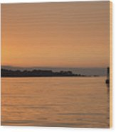 Sunset At Monterey Bay Wood Print