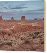 Sunset At Monument Valley No.2 Wood Print