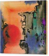 Sunset At Nikko Wood Print