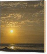 Sunset At Pacasmayo Beach 2 Wood Print