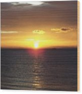 Sunset At Pacific Shores Wood Print