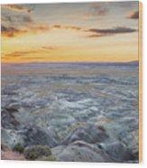 Sunset At Painted Desert Wood Print