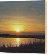 Sunset At Parker River National Wildlife Refuge Wood Print