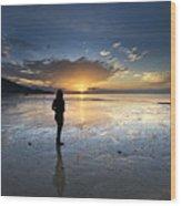 Sunset At Phuket Island Wood Print