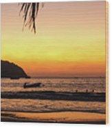 Sunset At Playa La Ropa Wood Print