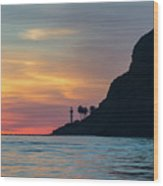 Sunset At Point Loma Wood Print