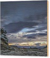 Sunset At Poolburn Reservoir 1 Wood Print