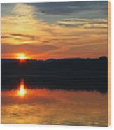 Sunset At Princess Point Wood Print