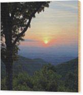 Sunset At Purgatory Mountain Wood Print