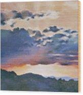 Sunset At Quialigo Wood Print