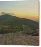 Sunset At Roan Mountain Wood Print