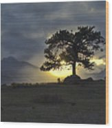 Sunset At Rocky Mountain Park Co Wood Print
