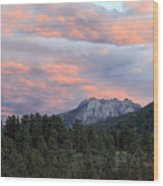 Sunset At Rocky Mountain Park.co Wood Print by James Steele
