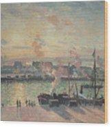 Sunset At Rouen Wood Print