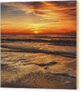 Sunset At Saint Petersburg Beach Wood Print