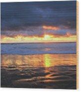 Sunset At Salt Creek Wood Print