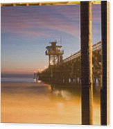 Sunset At San Clemente Wood Print