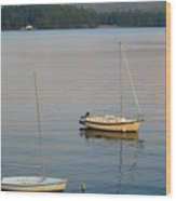 Sunset At Schroon Lake Wood Print