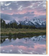 Sunset At Schwabacher Wood Print