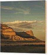 Sunset At Scotts Bluff National Monument Wood Print