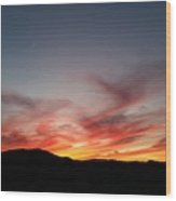 Sunset At Slap Happy Wood Print