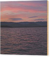 Sunset At Squam Lake New Hampshire Wood Print