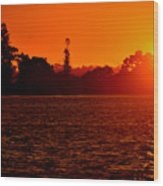 Sunset At Swan River II Wood Print