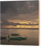Sunset At Tabuena Beach 1 Wood Print