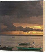 Sunset At Tabuena Beach 2 Wood Print