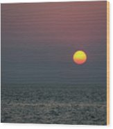 Sunset At The Beach Cape May Nj Wood Print