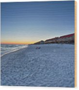 Sunset At The Beach In Florida Wood Print