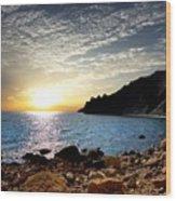 Sunset At The Black Sea Coast. Crimea Wood Print