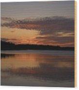 Sunset At The Gulf Of Bothnia 4 Wood Print
