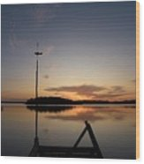 Sunset At The Gulf Of Bothnia  Wood Print