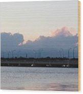 Sunset At The Lake8 Wood Print