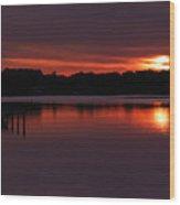 Sunset At The Marina Wood Print